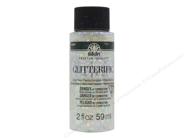 Plaid FolkArt Glitterific Paint 2 oz. Clear Hologram