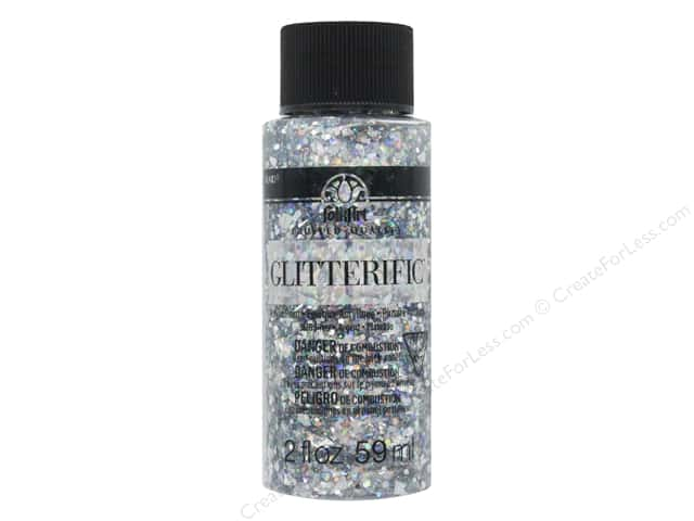 Plaid FolkArt Glitterific Paint 2 oz. Silver