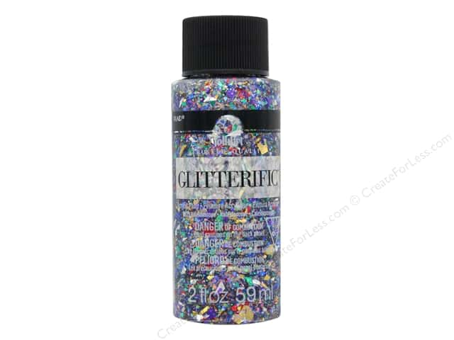 Plaid FolkArt Glitterific Paint 2 oz. Kaleidoscope