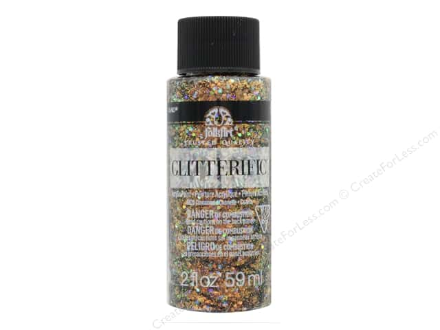 Plaid FolkArt Glitterific Paint 2 oz. Cinnamon