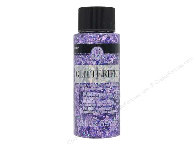 Plaid FolkArt Glitterific Paint 2 oz. Purple