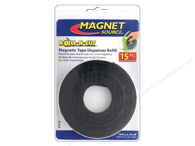 The Magnet Source Roll-N-Cut Magnetic Tape Refill Roll