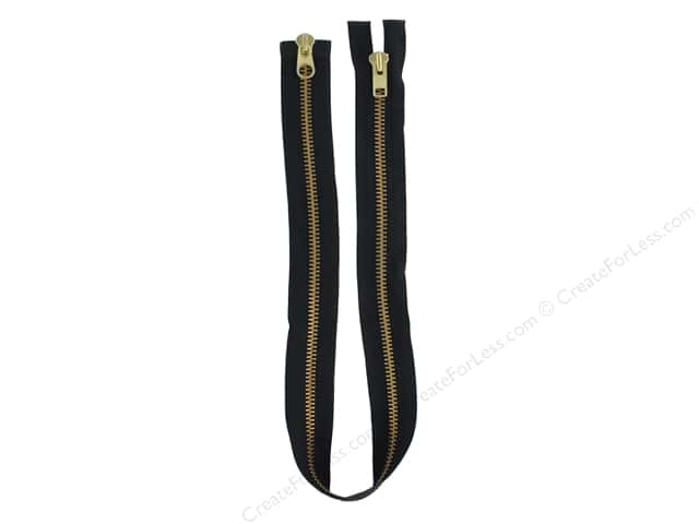 YKK Brass Heavy Duty 2 Way Separating Parka Zipper 32 in.  Black