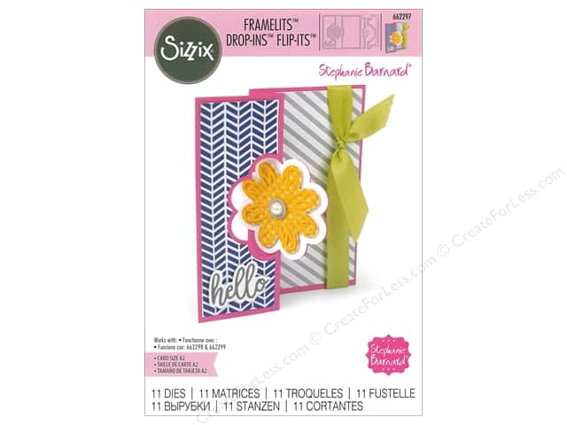 Sizzix Dies Stephanie Barnard Framelits Card Drop Ins Flip Its Base