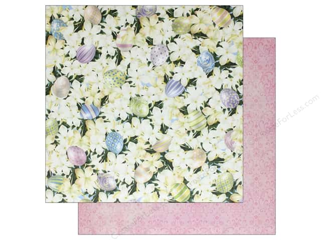 Bo Bunny Collection Cottontail Paper 12 in. x 12 in.  Cottontail (25 pieces)