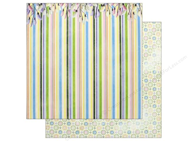 Bo Bunny Collection Cottontail Paper 12 in. x 12 in. Happy (25 pieces)
