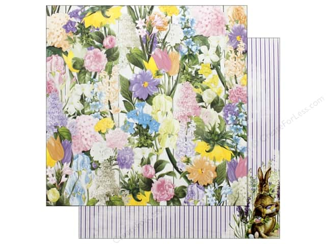 Bo Bunny Collection Cottontail Paper 12 in. x 12 in.  Flowers (25 pieces)