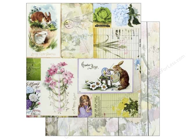 Bo Bunny Collection Cottontail Paper 12 in. x 12 in. Hippity Hop (25 pieces)