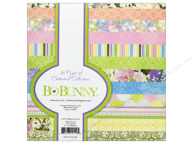 "Bo Bunny Collection Cottontail Paper Pad 6""x 6"""