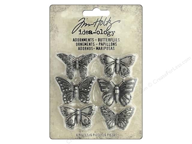 Tim Holtz Idea-ology Adornments Butterflies