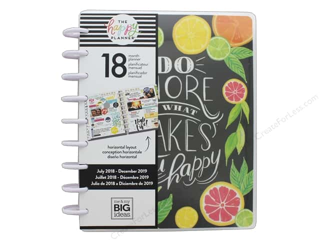 Me&My Big Ideas Collection Create 365 Happy Planner Classic 18 Month Makes Happy