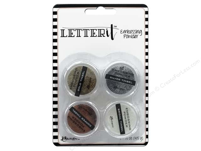 Ranger Letter It Embossing Powders - Tinsels