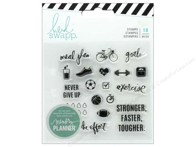 American Crafts Heidi Swapp Collection Fresh Start Memory Planner Clear Stamp Exercise
