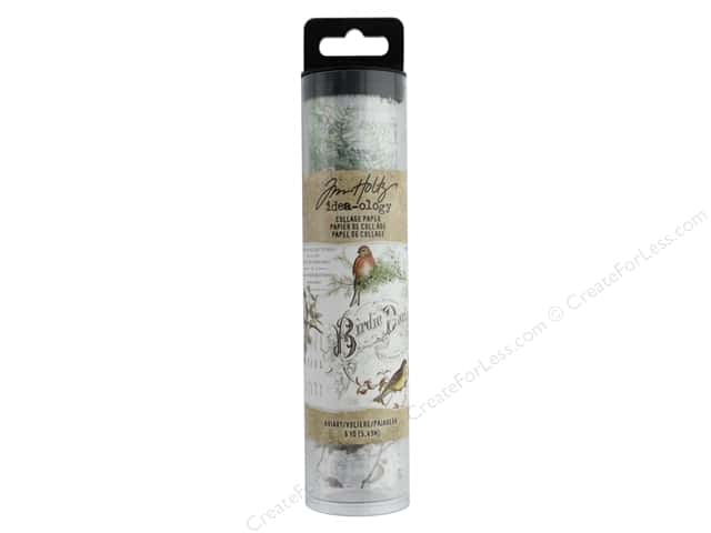 Tim Holtz Idea-ology Collage Paper Aviary
