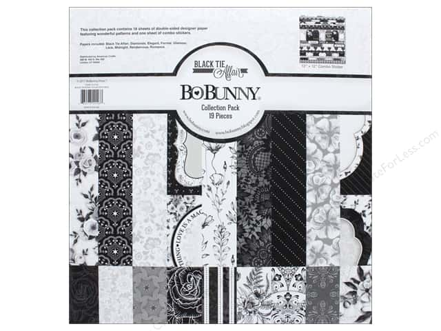 Bo Bunny Collection Black Tie Affair Collection Pack 12 in. x 12 in.