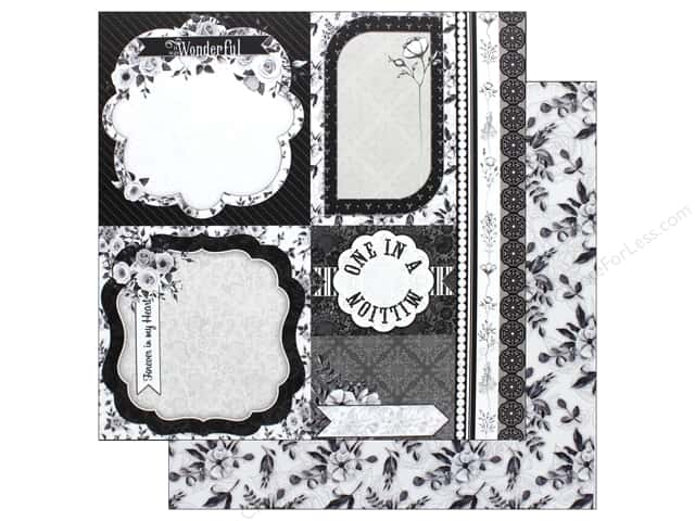 Bo Bunny Collection Black Tie Affair Paper 12 in. x 12 in. Romance (25 pieces)