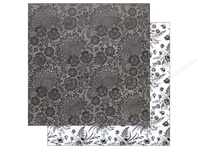 Bo Bunny Collection Black Tie Affair Paper  12 in. x 12 in.   Lace