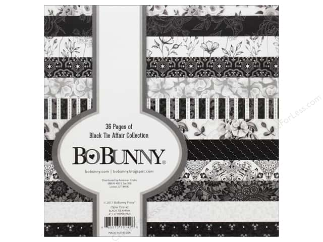 Bo Bunny Collection Black Tie Affair Paper Pad 6 in. x 6 in.