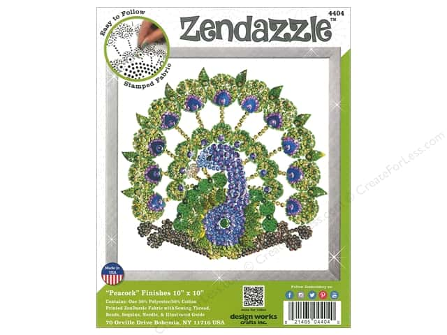 Design Works Kit Zendazzle Peacock