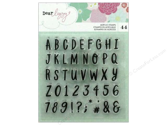 American Crafts Collection Dear Lizzy Stay Colorful Stamp Set Alpha