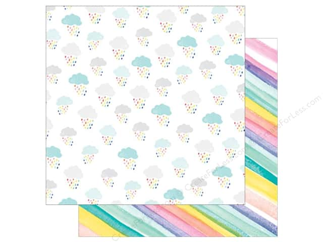 American Crafts Dear Lizzy 12 x 12 in. Paper Stay Colorful Awesome Possum