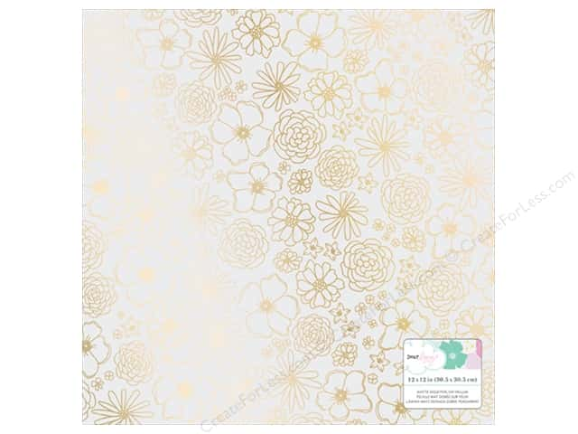 American Crafts Collection Dear Lizzy Stay Colorful Paper  12 in. X 12 in. Vellum Foil Gold (15 pieces)