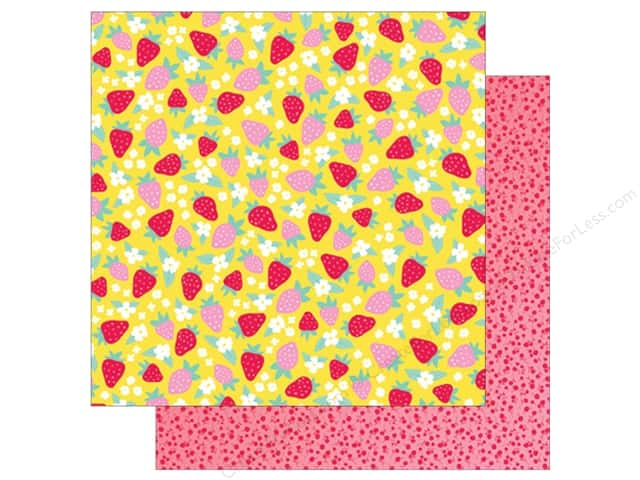 American Crafts Collection Dear Lizzy Stay Colorful Paper  12 in. x 12 in. Retro Garden (25 pieces)