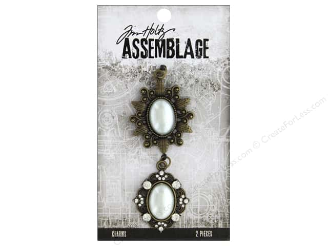 Tim Holtz Assemblage Charms Frame Oval Pearl