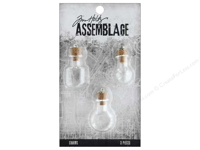 Tim Holtz Assemblage Charms Glass Vials