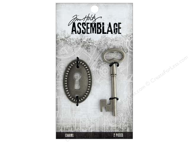 Tim Holtz Assemblage Charms Key And Keyhole