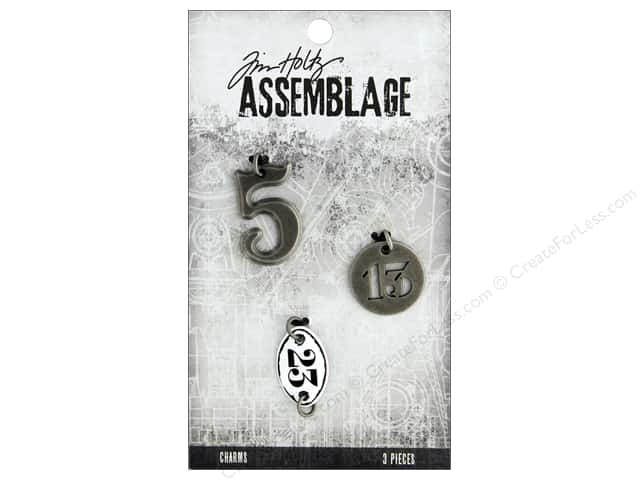 Tim Holtz Assemblage Charms Numbers