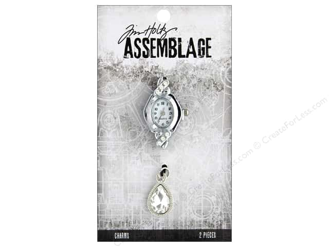 Tim Holtz Assemblage Charms Watch Face And Droplet