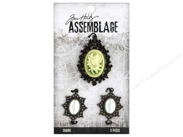 Tim Holtz Assemblage Charms Rosette And Pearls