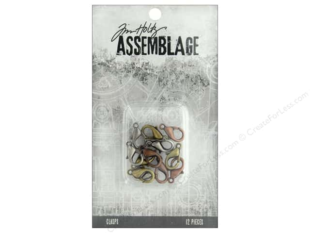 Tim Holtz Assemblage Clasps Lobster Claw Assortment