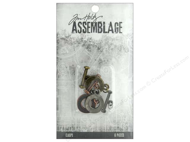 Tim Holtz Assemblage Clasps Toggles Flat