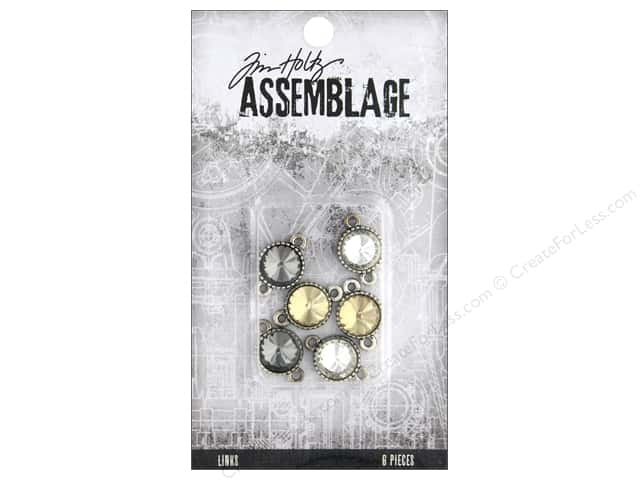 Tim Holtz Assemblage Links Round Facated Crystal