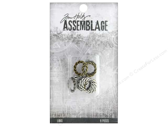 Tim Holtz Assemblage Links Braided Rings