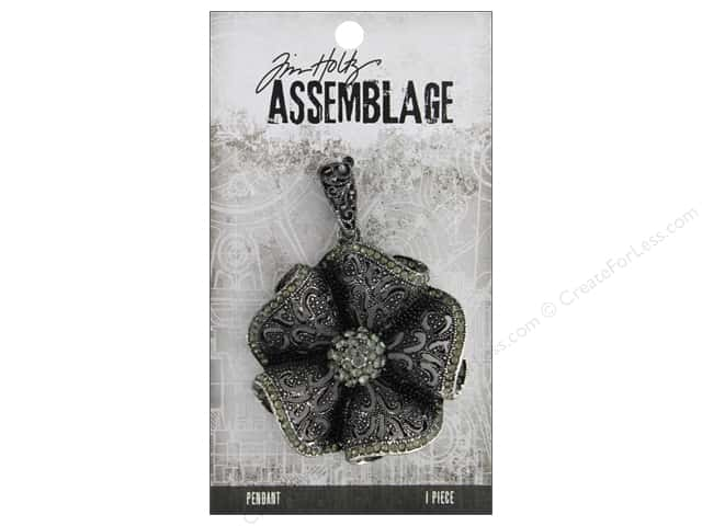 Tim Holtz Assemblage Pendant Ruffled Floral