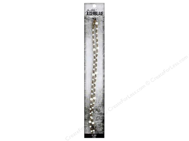 Tim Holtz Assemblage Chain 18 in. Rosary Pearl