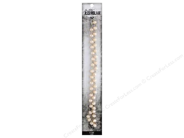 Tim Holtz Assemblage Chain 18 in. Rosary Pink