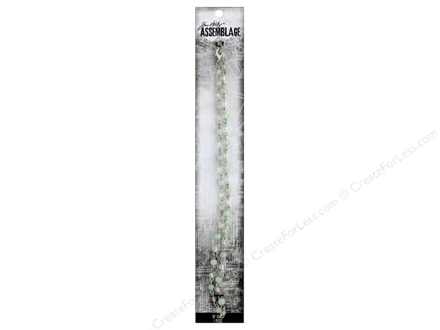 Tim Holtz Assemblage Chain 18 in. Rosary Peridot