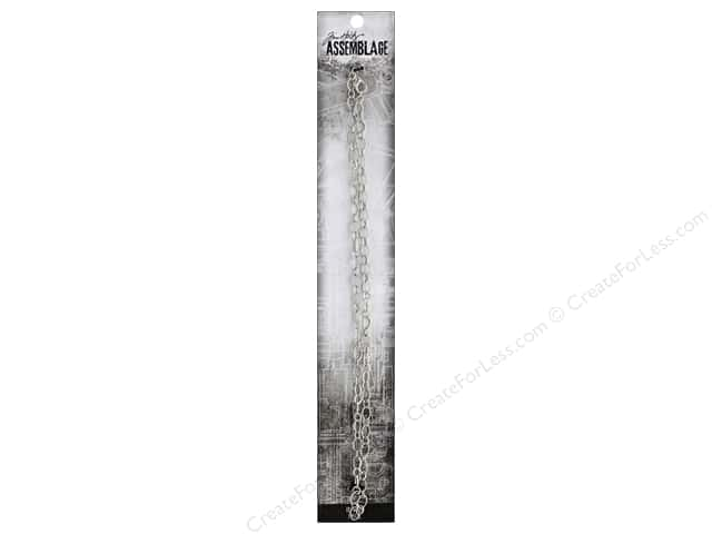 Tim Holtz Assemblage Chain 18 in. Delicate Loop Silver