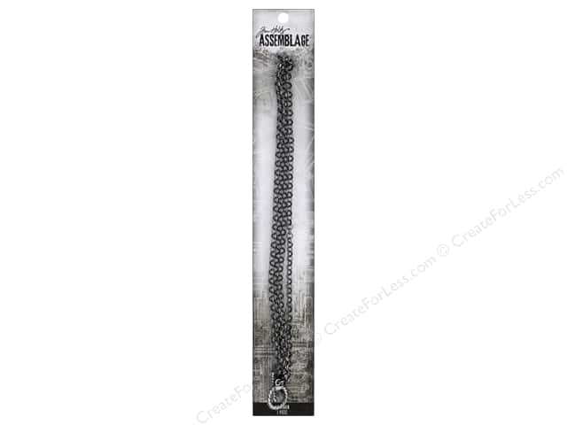 Tim Holtz Assemblage Chain 18 in.  Loop Gunmetal