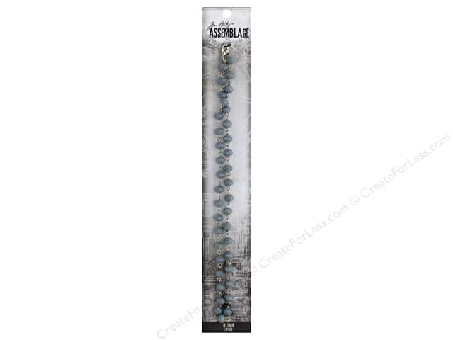 Tim Holtz Assemblage Chain 18 in. Beaded Ash Gray