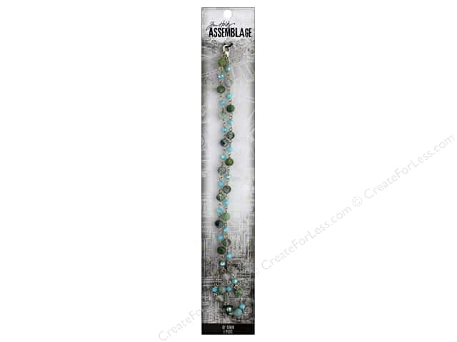 Tim Holtz Assemblage Chain 18 in. Beaded Arctic Blue