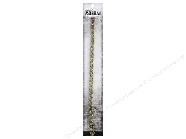 Tim Holtz Assemblage Chain 18 in. Beaded Iridescent Jade