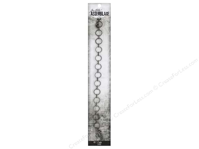 Tim Holtz Assemblage Chain 8 in. Link Thin Circle Gunmetal