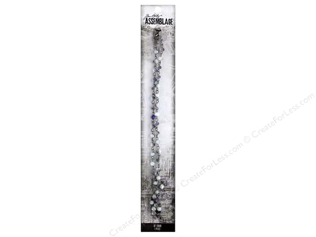 Tim Holtz Assemblage Chain 18 in. Beaded Iridescent Smoke