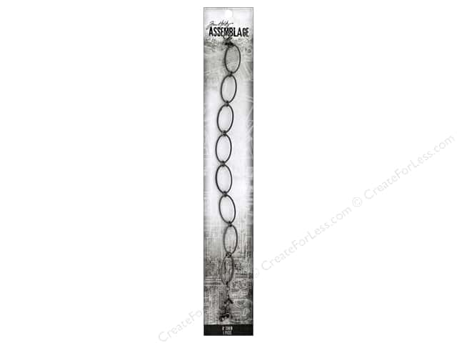 Tim Holtz Assemblage Chain 8 in.  Link Thin Oval Silver