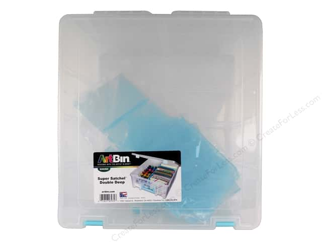 ArtBin Super Satchel Double Deep Clear With Aqua Dividers